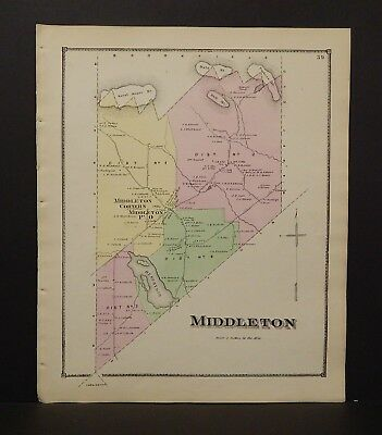 New Hampshire Strafford County Map Middleton Township 1871  Y15#06