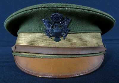 Original Wwi Us Army Officer's Visor Hat - Excellent Condition - Size 7 *nice!*
