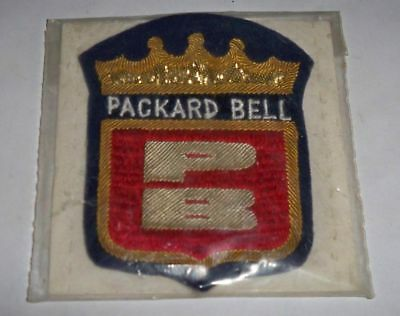 Vintage NEW Packard Bell sewn clothing or shoulder patch rare sealed HP computer