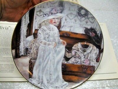 """Knowles China Co 1990  """"Olivia"""" Collector Plate Corinne Layton Ltd Ed 4th Issue"""