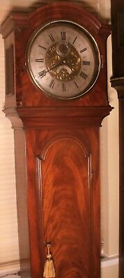"Antique Mahogany "" Manchester ""  Brass  Dial  Grandfather / Longcase Clock"