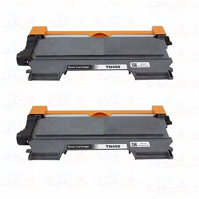2PK TN450 For Brother MFC-7240 7360N 7460DN 7860DW HL-2130 2132 2220 2230 2240