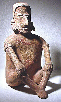 Pre-Columbian Large Jalisco  Male Figure Ex Sotheby '78