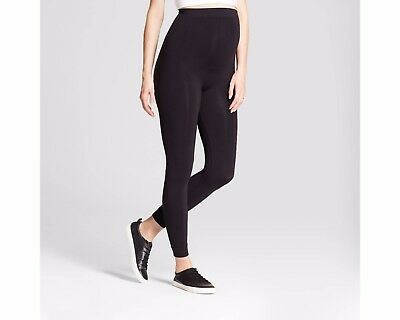 NWT BeMaternity by Ingrid & Isabel Yoga Black Seamless Belly Leggings L/XL