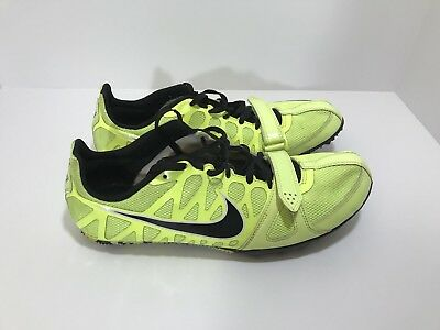 separation shoes e4d28 5fc12 Nike Zoom Rival S 6 Men s Size 11 Neon Yellow Black Track Spikes 456812-
