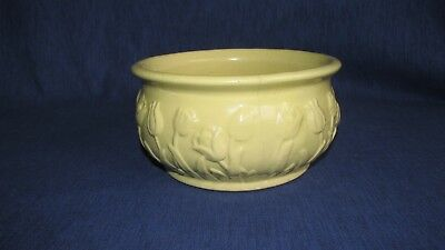 UHL POTTERY 1930's yellow tulip design bowl planter MARKED ON BOTTOM