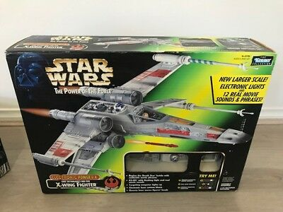 1999 kenner Star wars the power of the force 15 NEW SEALED IN BOX X wing Fighter