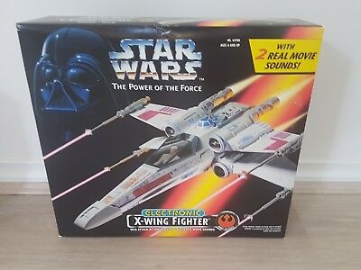 1999 kenner Star wars the power of the force NEW SEALED IN BOX X wing Fighter