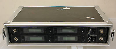 Shure U4D-UB Dual Channel UHF Wireless Microphone System Pair Lot of 2