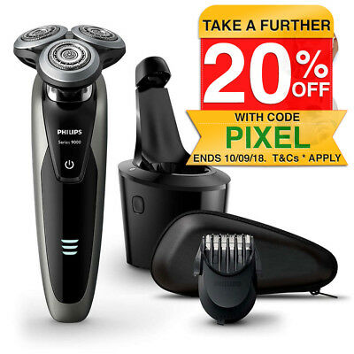 Philips S9161/31 Serie 9000 Wet/Dry Electric Cordless Men Shaver w/Beard Trimmer