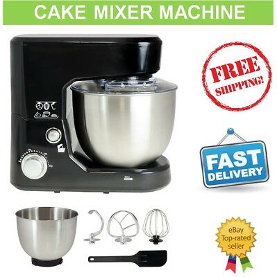 Cake Mixer Machine Kitchen Benchtop Electric Beater Food Dough Hook Whisk Bowl