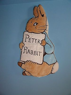 Beatrix Potter Peter Rabbit wall hanging decor cloth appliqued 24""