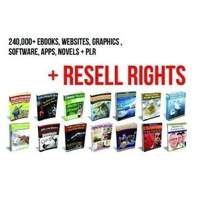 More Than 250000+ eBooks , Quotes, PLR Articles - Software +RESELL RIGHT