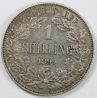 ZAR - South Africa 1894 Shilling, toned Extremely Fine