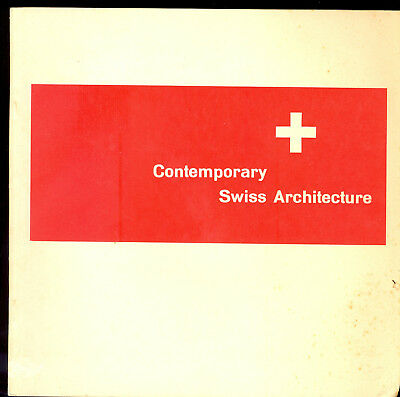 Contemporary Swiss Architecture Mid Century Modern 1953 Vintage Book