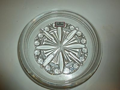 Stunning Baccarat Crystal Round Dish, Petal and Button Design