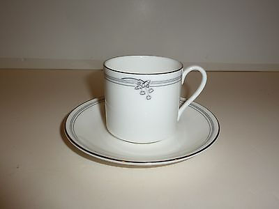 Royal Doulton Andante Pattern Small Cup and Saucer, Silver-tone Rims