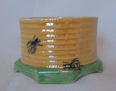 Antique CROWN DEVON FIELDINGS Bumble Bee Honey Pot/Jar -Without Lid
