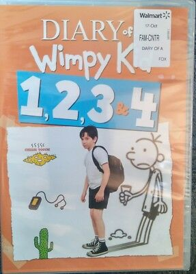 Diary Of A Wimpy Kid 1, 2, 3, 4 (DVD) New & Sealed! FREE SHIPPING!