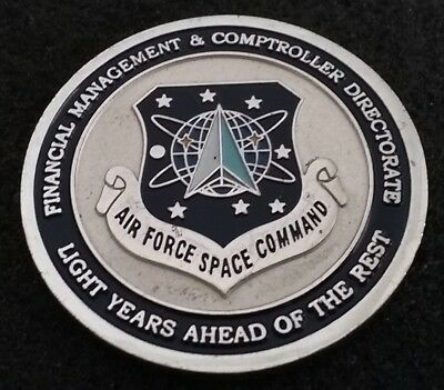 AUTHENTIC Air Force Space Command AFSPC Finance Director USAF US Challenge Coin