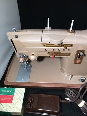Singer 328K Sewing Machine Heavy Duty Industrial Strength w/ Power, Pedal+more