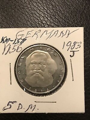 Germany 5 marks 1983 J Karl Marx BU