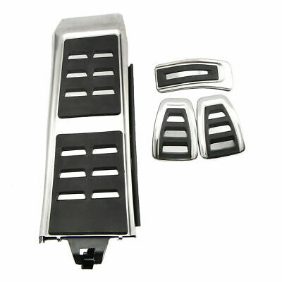 NO DRILL MT Footrest Pedal Throttle Plate Gas Manual for Audi A4 B8 Q5 A6 S4 S6