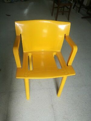 KARTELL 4873 Anna Castelli Ferrieri Chair design vintage chairs yellow 1986