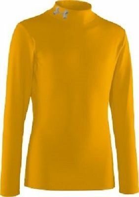 New Under Armour Men's Coldgear Compression Mock Large Yellow 1000512 Nwt
