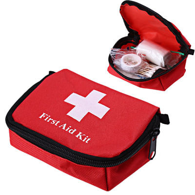 Protable Outdoor Hiking Camping Survival Emergency First Aid Kit Rescue Bag Case