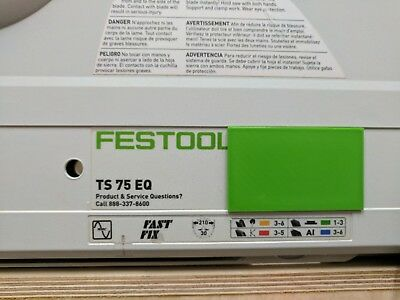 Cover plate for festool Ts 75 saw.