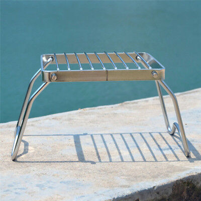 Portable Stainless Steel BBQ Barbecue Grill Folding Outdoor Burner Stand Support