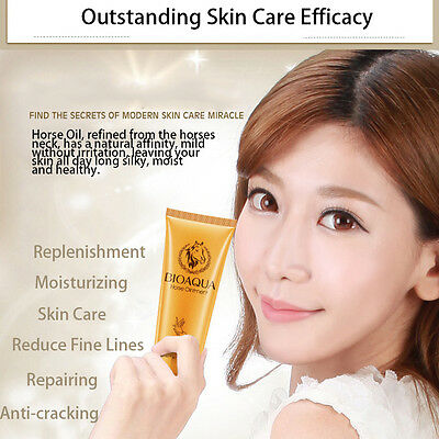 Horse Oil Moisturizing Hand Cream Anti Aging Whitening Nourishing Hand Care HOT