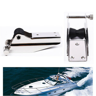 316 Stainless Steel Marine Boat Bow Anchor Sprit Roller&Locking Pin