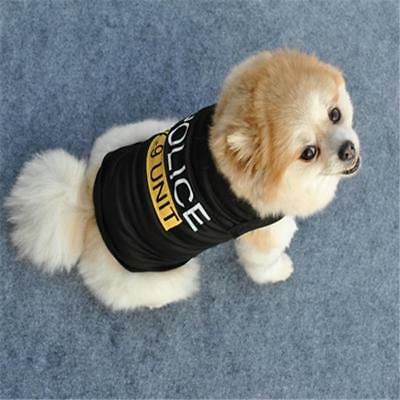 Cute Dog Cat Vest Police Puppy T-Shirt Coat Pet Clothes Apparel Costumes  gift