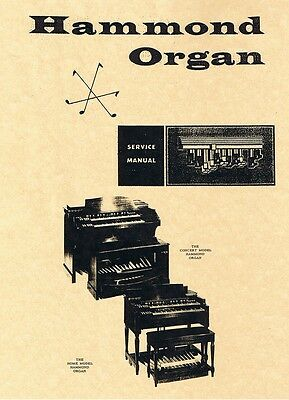 Hammond Organ Service Manual s B3/C3/A/B/BC/RT/D/G/BV/CV/LESLIE Schematic Layout