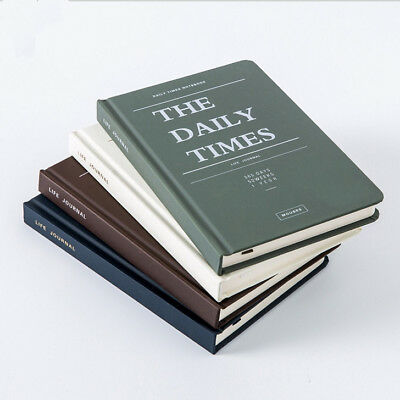"""Daily Times"" 1pc Business Diary Planner Hard Cover Study Gift Notebook Journal"