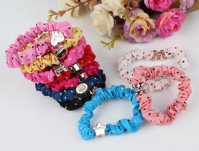 10pcs Girls Metal elastic hair ties Scrunchie Ponytail Holder Hair Accessories