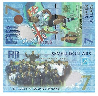 Fiji 7 Dollars 2017 Commemorative Unc P New