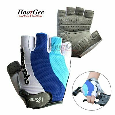 Bike Cycle Cycling Gloves Gel Protection Breathable Half Finger Fingerless Mitts