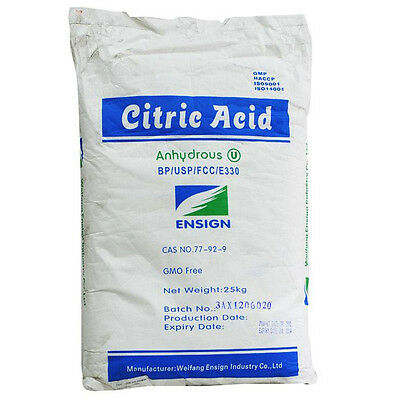 Citric acid 20kg Anhydrous food grade quality cheese, wine, soap & bath bomb