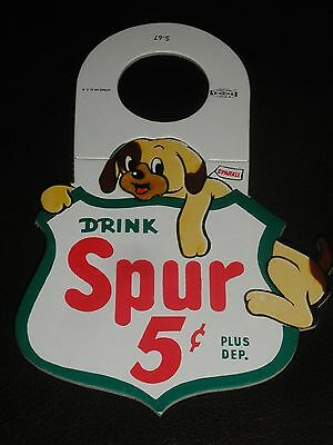 """Spur Cola Coca Soda  Bottle HANG TAG """"Sparkle"""" never used New Canada Dry 1967"""