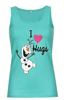 "Disney Frozen "" I LOVE HUGS OLAF Tank TOP SHIRT,NEU, Gr. XS, Die Eiskönigin"