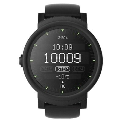 """Ticwatch E Smartwatch 1.4"""" OLED Android Wear 2.0 For IOS Android - Shadow Black"""
