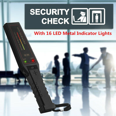 Hand Held Metal Detector Scanner Test Wand 16 LED Indicator Security Scanner WH