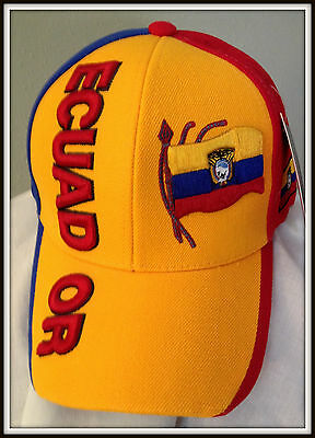Embroidered Adult Adjustable Ecuador Cap By Sara Headwear Free Shipping Usa