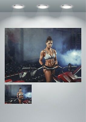 Gym Girl Motivational Workout Sexy Large Poster Art Print