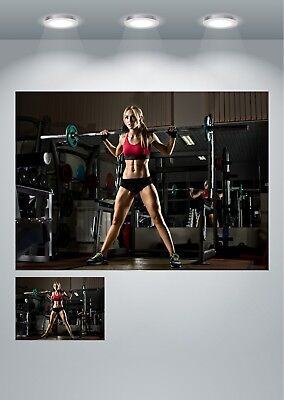 Gym Girl 3 Motivational Workout Sexy Large Poster Art Print