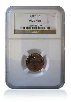 NGC MS67 RD Red 2012-P Lincoln Shield Cent Penny Gem Uncirculated