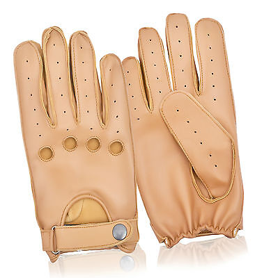 Real Sheep Leather Full Finger Classic Driving Gloves Dress Fashion retro Style